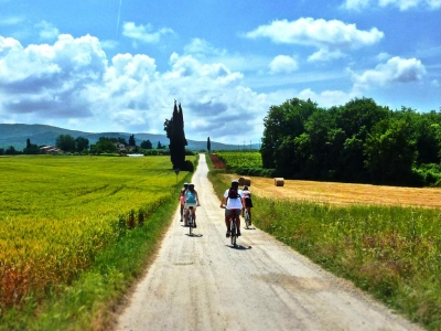 One day bike tour Montepulciano Cortona